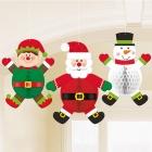 Ziemassvētku Papīru dekoracija 3.gab 35cm