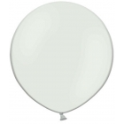 Apaļas formas liels lateksa balons baltā krāsā, 60cm, pastelis, 1 gab.