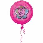 Rozā folijas balons ar ciparu  9 43 cm ar hēliju