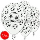 """12""""/30 cm lateksa baloni, Futbola bumba, 15 gab."""