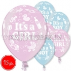 "12""/30 cm lateksa baloni, Boy Girl, 15 gab."