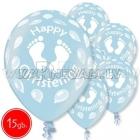 "12""/30 cm lateksa baloni, Christening boy, 15 gab."