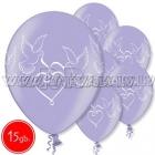 """12""""/30 cm lateksa baloni, Baloži, lavenders, 15 gab."""