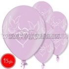 "12""/30 cm lateksa baloni, Baloži, roza , 15 gab."