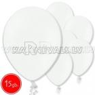 "10.5""/27cm  lateksa balons,, pastels, balts,  15 gab."