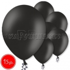 "10.5""/27cm  lateksa balons, pastels, melns,  15 gab."