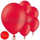 "10.5""/27cm  lateksa balons, pastels, sarkans,  15 gab."