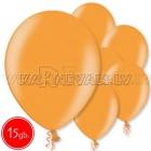 "12""/30cm lateksa balons, metalliks, oranžs, 15 gab."
