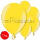 """12""""/30cm lateksa balons, metalliks, citrusu dzeltena, 15 gab."""