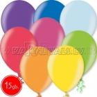 "12""/30cm lateksa balons, metalliks, assorti, 15 gab."