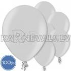"Metalliks, sudrabi, 10.5""/27cm lateksa baloni, 100 gab."