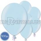 "Metalliks, gaiši zila, 10.5""/27cm lateksa baloni, 100 gab."
