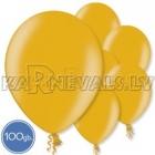"Metalliks, zelta, 12""/30cm lateksa baloni 100.gab."