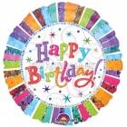 Folijas hēlija balons Starojoša dzimšanas diena