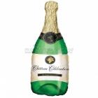 """Folijas hēlija balons """"Šampanieša pudele"""", izmērs 35 x 91 cm,"""