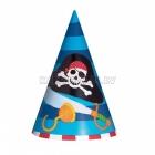 Cepurīte bernu svetki Tema: Pirati 17.7cm 1 gab
