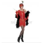 20. gadu stila kostīms, M izmērs - kleita un galvas rota, sarkans. Aksesuāri nopērkami atsevišķi