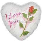 Folijas hēlija balons I Love You Rose