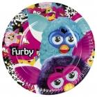 šķīvji ar attelu. Tema - Furby,  22.8 cm, 8 gab