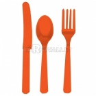 Sortiments no 24 gabaliem galda piederumiem orange