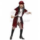Karību jūras pirāta kostīms 140cm, krekls ar vesti, bikses, jostas, bandana