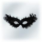 Veneciešu karnevala melna maska