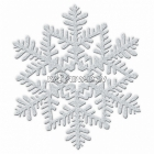 Sniegpārsliņa - piekaramā dekorācija, diam.16cm, ar sudrabu spīdumu