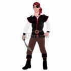 Pirāta, jūras dumpinieka kostīms 12-14 gādu vecumā bērniem, izmērs 162cm. Komplektā krekls, veste, galvas lakats, josta, bikses,