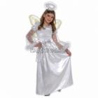 Eņģeļa kostīms 6-8 gādu vecumā meitenēm. Komplektā kleita, nimbs un spārni, izmērs 128cm