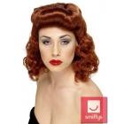 40.gadu stilā parūka, viļņainie mati, krāsa - rudā