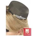 Armijas stila mini cepurīte ar sprādzītēm