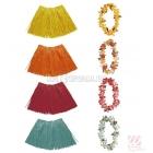 Ziedu virtene un īsi havajiešu stila svārki, 1 komplekts. 4 dažādas krāsa.