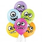 """""""Purniņi"""" 12""""/30 cm lateksa baloni  6 gab. Pastelis: 008 Abolu Zaļš, 117 Koši Dzeltens, 007 Oranžs, 010 Koši Rozā, 009 Gaiši vio"""
