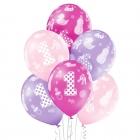 1.Dzimšanas Diena meitenei 12″/30cm lateksa baloni, 6 gab. Pastelis: 004 Gaiši Rozā, 009 Gaiši Violets, 010 Koši Rozā. Druka 1
