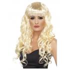 Sīrena blondīnes parūka, garš, cirtains ar bārma