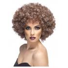 Afro stila parūka, brūna, XL