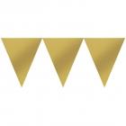 Karodziņu virtene, zelta krāsā  450 x 18 cm