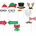 """Aksesuāri fotosesijai """"Ziemassvētki"""" papīrs / koks,  13 priekšmeti"""