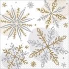 """Salvetes """"Spīdošs sniegs"""", 25 x 25 cm, 16 gab"""