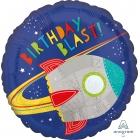 """Folijas hēlija balons """"Kosmiskā Dzimšanas diena"""", 43 cn"""