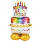"""Folijas gaisa balons """"Dzimšanas dienas torte"""", īpaši liels balons, 153 cm, piepūšams ar gaisu"""