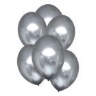 Hroma baloni sudraba krāsa, Satin Luxe, 30cm, 6 gab.