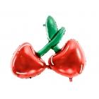 """Folijas balons """"ķirsis"""", piepūšams ar hēliju vai gaisu, 88 x 73 cm"""