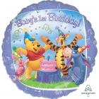 """Folijas balons """"1. dzimšanas diena – Vinnijs Pūks un draugi"""", 43 cm, piepūšams ar hēliju"""