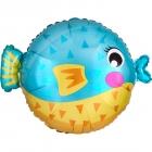 Balonu zivtiņa - folijas hēlija balons, 55 x 38cm, piepūšams ar hēliju