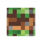 8 šķīvji Minecraft/TNT Party!  18 x 18 cm,  papīrs
