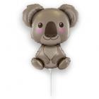 Folijas gaisa balons Koala, piepūsts ar gaisu, uz kociņa