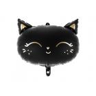 """Folijas balons """"Melnais Kaķītis"""", piepūšams ar hēliju vai gaisu, 48 x 36 cm"""