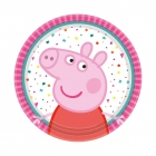 8 šķivijs  Peppa Pig apaļa 18 cm