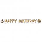 "Burtu virtene ""Happy Birthday - Pirātu karte"", 180 x 15 cm, 1 gab., papīrs"